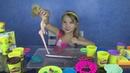 Ангелина - единорожка лепка из Play-Doh ... фильм игры Angelina's school Play-Doh
