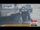 Через туман военные инженеры ВВО скрытно переправили колонну грузовиков на пароме АрмияРоссии