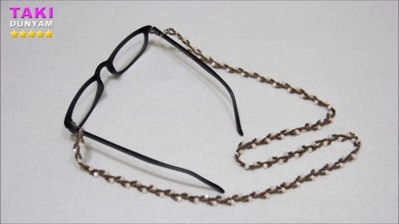 Takı Tasarımı- En Pratik-Kolay Ve Basit Gözlük İpi Yapımı(DETAYLI VE SESLİ ANLATIM)TAKI DÜNYAM