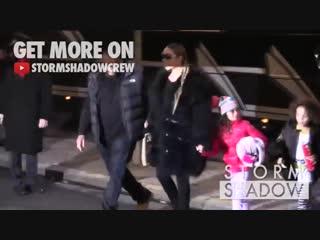 Mariah Carey arriving in her Plaza Athenee Paris hotel.