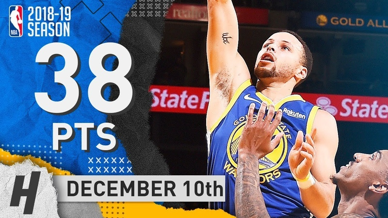Stephen Curry EPIC Highlights Warriors vs Timberwolves 2018.12.10 - 38 Pts, 6 Ast, 7 Rebounds!