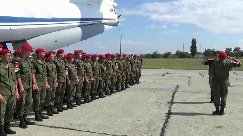 Российские военнослужащие возвращаются изСирии Новости Первый канал