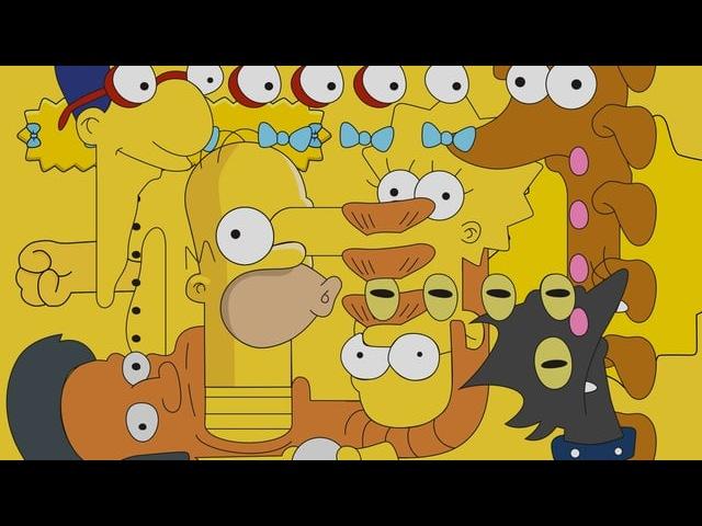 Видео-абстракция с персонажами Симпсонов
