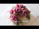 Украшение торта Цветы Фуксии