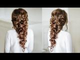 Voluminous Greek style  Braid - Easy Hairstyle for long dark hair