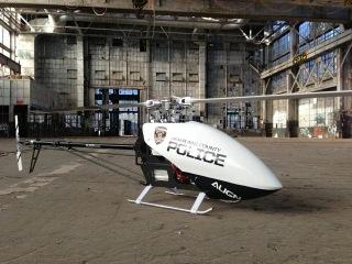 Alan Szabo Jr. ALIGN Trex 700E DFC Police inside Rail Yard 4/15/2013