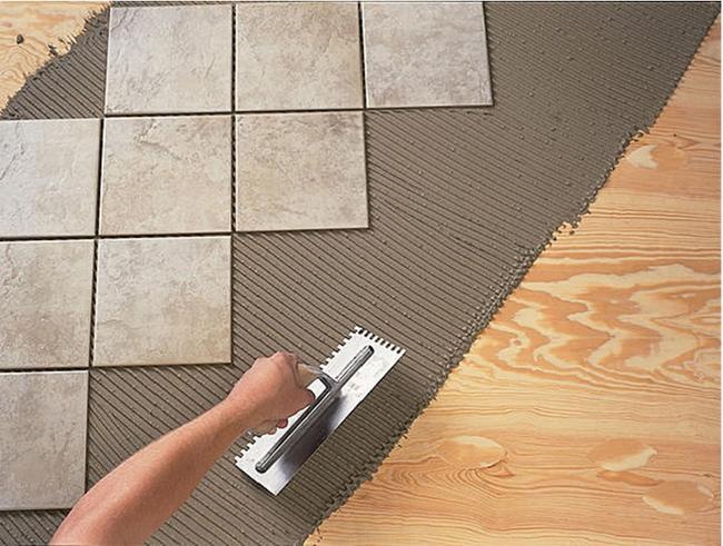 Покрытие на цементном растворе из плиток бетон чай