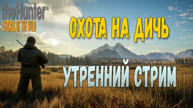 THE HUNTER CALL OF THE WILD - ОХОТА НА ДИЧЬ. УТРЕННИЙ СТРИМ!
