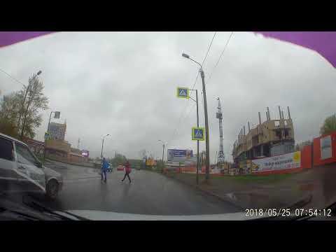 Торопыга на уазе чуть не сбил пешехода [Омск]