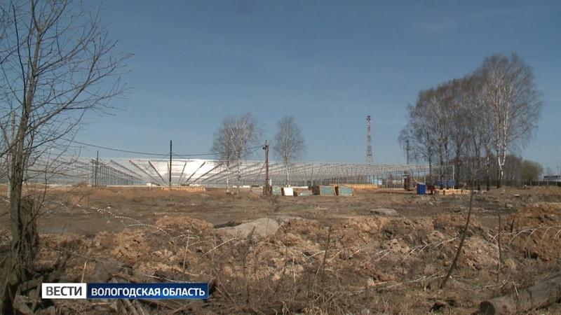 В Череповце возводят современный тепличный комплекс