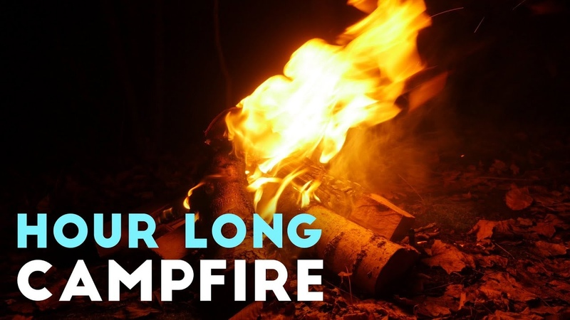 Virtual Campfire in 4K With Crackling Sounds | Hour Long Holiday Fire