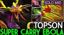TOPSON [Venomancer] Super Carry Ebola Intense Game Mid 7.20 Dota 2