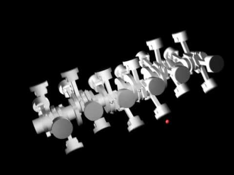 4 Stroke, X-24 engine animation.