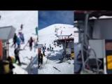 Сломался подъемник, который перевозил людей на склон, и лыжники начали буквально слетать с него.