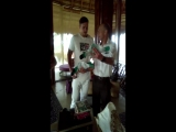 Proud WBC Cruiserweight champion @AleksandrUsyk receiving welcome champions kit on his vacation in #Cancun @mexico