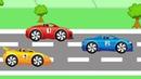 Три гоночные машинки - мультфильм для детей