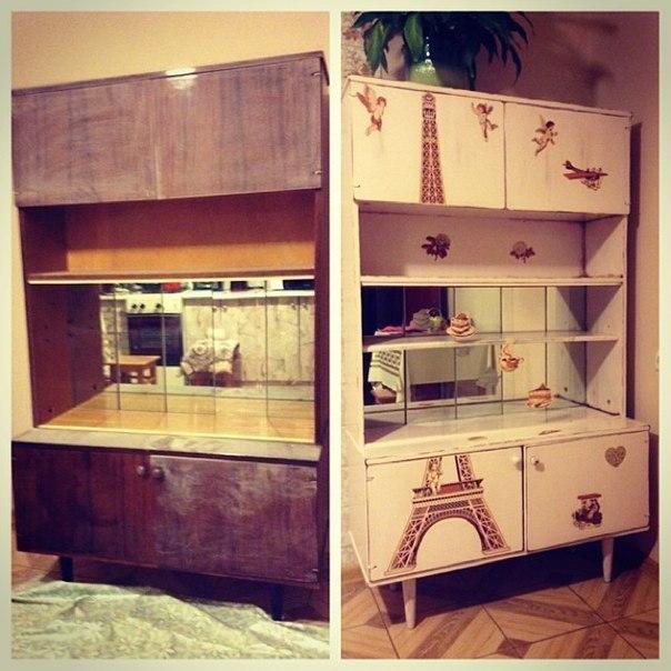Обновление старой мебели своими руками фото до и после