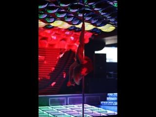 Отчётый концерт студии воздушной акробатики и пилонного спорта Polden. Мой дебют в стиле Pole Art.