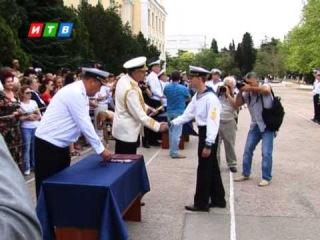 В Черноморском высшем военно-морском училище имени Павла Нахимова прошел выпуск курсантов
