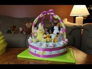 diaper cake basket instructions