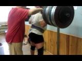 Тимур Гадиев, присед 330 кг без экипы!