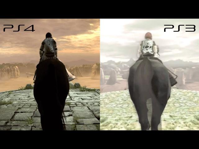 Shadow of the Colossus PS3 x PS4 - Comparação (Graphics Comparison) TGS Trailer 2017