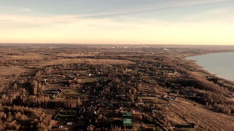 Полёт над Переславлем-Залесским.