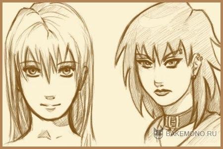 аниме картинки которые легко нарисовать: