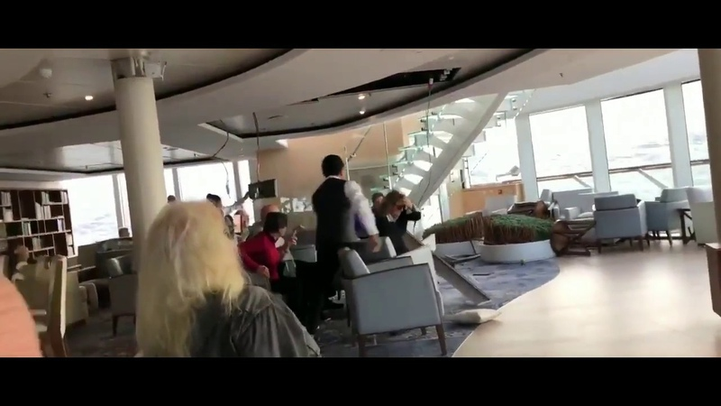 VIDEO FROM THE INSIDE VIKING SKY CRUISE SHIP AFTER FAILURE ENGINE NEAR NORWAY.