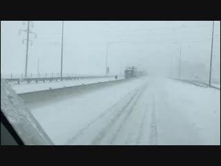 В Ростове первый снег!