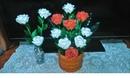 Rosas hechas con material reciclado 02 CreandoconAlba