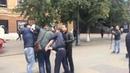 Жесткие задержания во время акции протеста