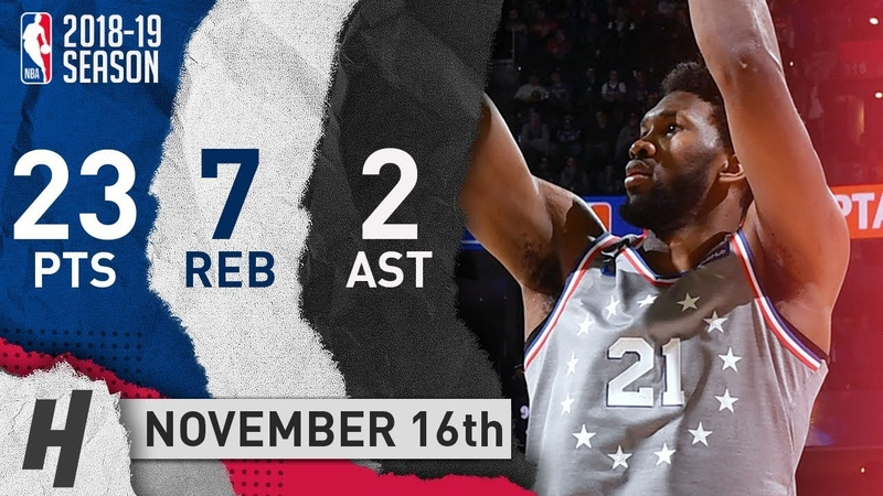 Joel Embiid Full Highlights 76ers vs Jazz 2018.11.16 - 23 Pts, 2 Ast, 7 Rebounds!