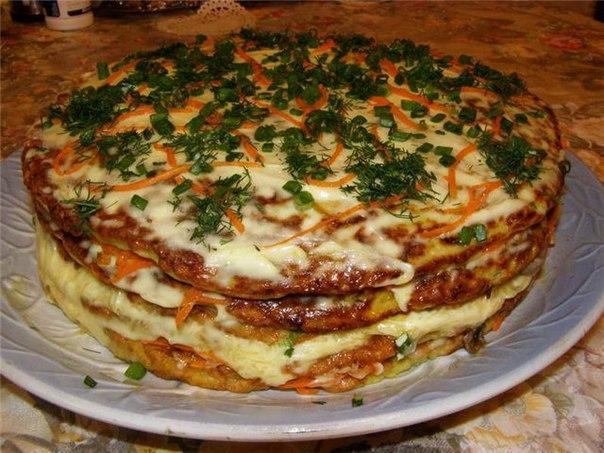 Торт молодых кабачков фото