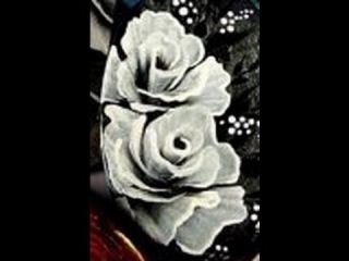 Pittura cinese la rosa. micro pittura. come dipingere con colori acrilici