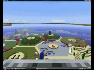 Huge Minecraft Settlers of Catan Board