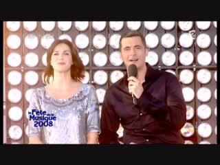 Enrique Iglesias et Nadiya - Tired of Being Sorry. Féte de la Musique 21 06 2008 ( 480 X 854 ).mp4