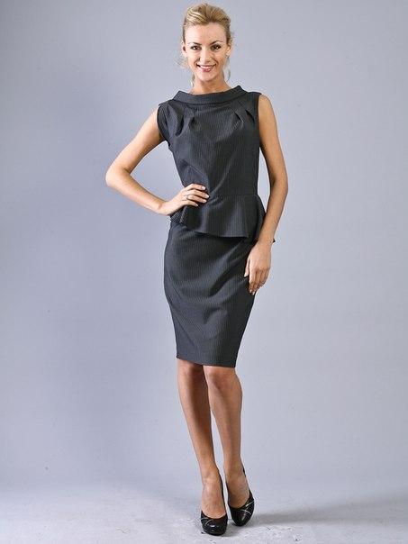 Платье в полоску для полной женщине