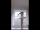 Ballet dancer performs fouette turns