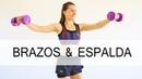 Ejercicios para BRAZOS y ESPALDA con mancuernas en casa | 25 min con Elena Malova