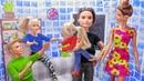 СЕМЬЯ ПО ОБМЕНУ! Мультик куклы Барби