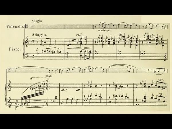 Heitor Villa-Lobos - Elegie for cello and piano (audio sheet music)