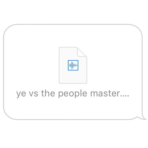 Kanye West album Ye vs. the People (starring TI as the People)