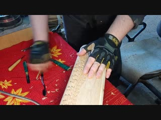 Резная шкатулка из ольхи. Часть 3. Нанесение рисунка и резьба корпуса шкатулки