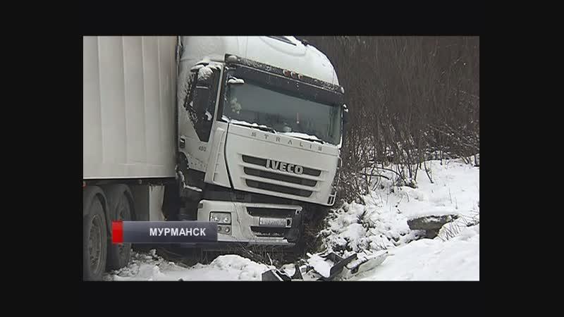 Аварии с фурами на ленинградке Водители винят скользкую дорогу