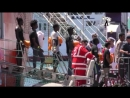 Itálie Sicílie Invaze začala znovu Ve 3 dnech 1400 migrantů stovky se svrabem