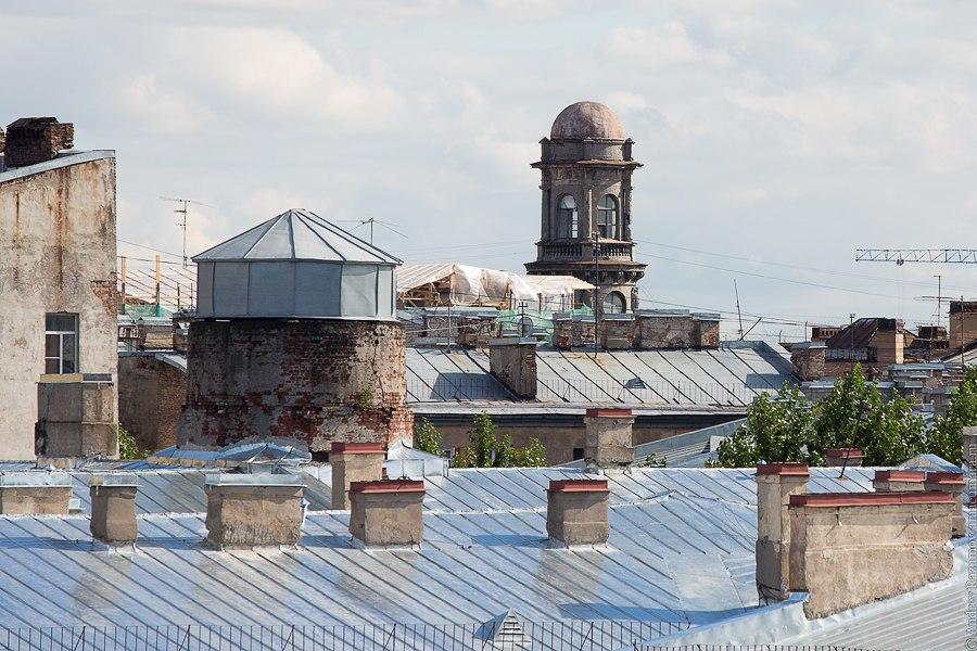 Прогулки по крыше в Санкт-Петербурге пять углов