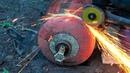 Безопасно и быстро режем пропановый ГАЗОВЫЙ баллон Как разрезать газовый балон