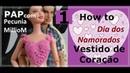 Como Fazer Vestido Busto de Coração de Croche Para Barbie 1ª Parte Com Pecunia MillioM