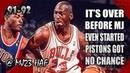 Michael Jordan Highlights vs Pistons (1991.11.12) - 20pts, Over before He Even Started!